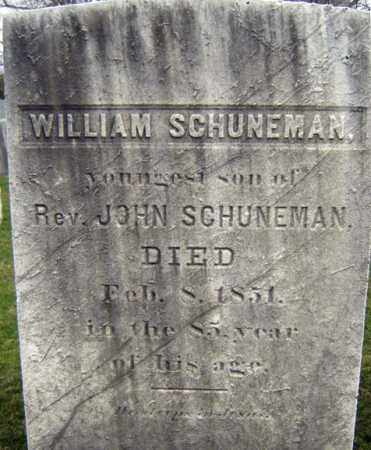 SCHUNEMAN, WILLIAM - Greene County, New York | WILLIAM SCHUNEMAN - New York Gravestone Photos