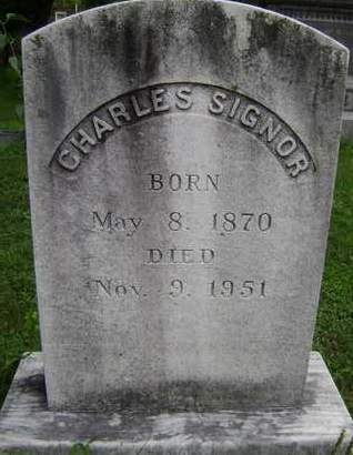 SIGNOR, CHARLES - Greene County, New York | CHARLES SIGNOR - New York Gravestone Photos