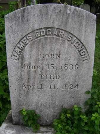 SIGNOR, JAMES EDGAR - Greene County, New York   JAMES EDGAR SIGNOR - New York Gravestone Photos