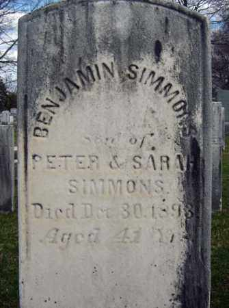 SIMMONS, BENJAMIN - Greene County, New York | BENJAMIN SIMMONS - New York Gravestone Photos