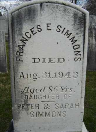 SIMMONS, FRANCES E - Greene County, New York | FRANCES E SIMMONS - New York Gravestone Photos