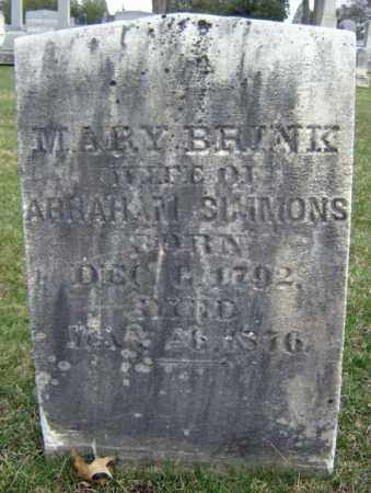 BRINK SIMMONS, MARY - Greene County, New York | MARY BRINK SIMMONS - New York Gravestone Photos
