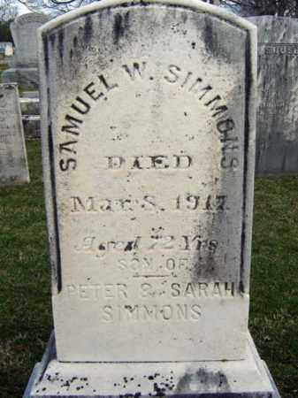 SIMMONS, SAMUEL W - Greene County, New York   SAMUEL W SIMMONS - New York Gravestone Photos