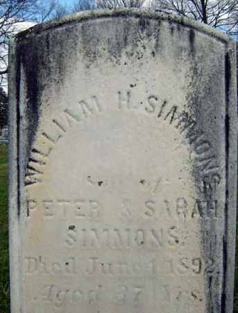 SIMMONS, WILLIAM H - Greene County, New York | WILLIAM H SIMMONS - New York Gravestone Photos