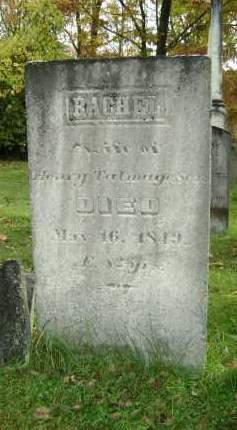 TALMAGE, RACHEL - Greene County, New York   RACHEL TALMAGE - New York Gravestone Photos