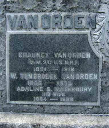 VAN ORDEN, CHAUNCY - Greene County, New York | CHAUNCY VAN ORDEN - New York Gravestone Photos