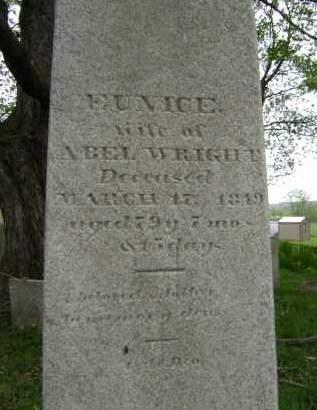 WRIGHT, EUNICE - Greene County, New York   EUNICE WRIGHT - New York Gravestone Photos