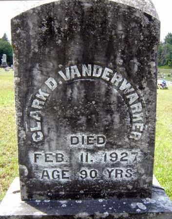 VAN DERWARKER, CLARK D - Hamilton County, New York   CLARK D VAN DERWARKER - New York Gravestone Photos
