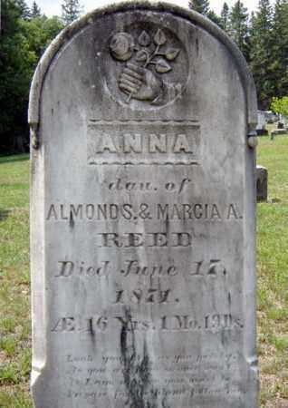 REED, ANNA - Hamilton County, New York   ANNA REED - New York Gravestone Photos
