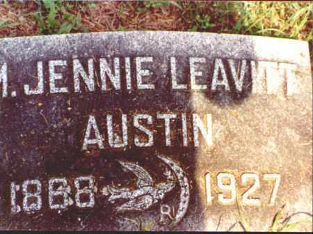 LEAVITT AUSTIN, MARY JENNIE - Herkimer County, New York | MARY JENNIE LEAVITT AUSTIN - New York Gravestone Photos