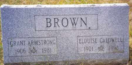 BROWN, GRANT ARMSTRONG - Herkimer County, New York | GRANT ARMSTRONG BROWN - New York Gravestone Photos