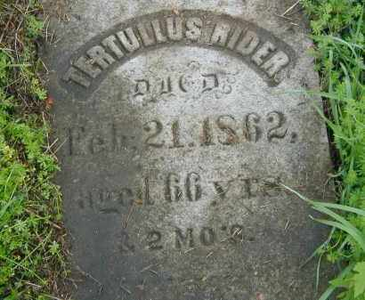 RIDER, TURTULLUS - Herkimer County, New York | TURTULLUS RIDER - New York Gravestone Photos