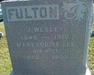 FULTON, J WESLEY - Jefferson County, New York | J WESLEY FULTON - New York Gravestone Photos