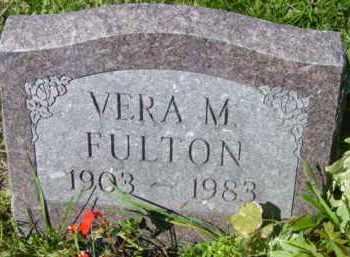 FULTON, VERA M - Jefferson County, New York   VERA M FULTON - New York Gravestone Photos