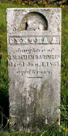BARINGER, CYNTHA A. - Lewis County, New York   CYNTHA A. BARINGER - New York Gravestone Photos