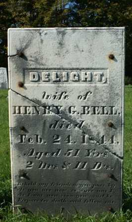 BELL, DELIGHT - Lewis County, New York | DELIGHT BELL - New York Gravestone Photos