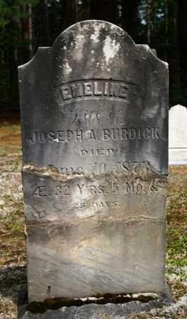 BURDICK, EMELINE - Lewis County, New York | EMELINE BURDICK - New York Gravestone Photos