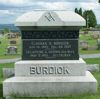 BURDICK, DELAPHINE A. - Lewis County, New York | DELAPHINE A. BURDICK - New York Gravestone Photos