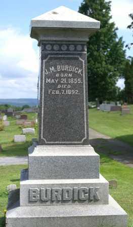 BURDICK, J. M. - Lewis County, New York | J. M. BURDICK - New York Gravestone Photos