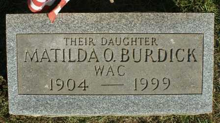 BURDICK, MATILDA O. - Lewis County, New York | MATILDA O. BURDICK - New York Gravestone Photos