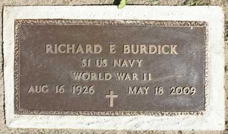 BURDICK, RICHARD E. - Lewis County, New York   RICHARD E. BURDICK - New York Gravestone Photos