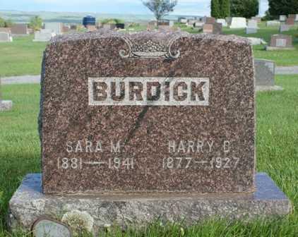 BURDICK, SARA M. - Lewis County, New York | SARA M. BURDICK - New York Gravestone Photos