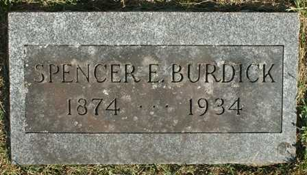 BURDICK, SPENCER E. - Lewis County, New York | SPENCER E. BURDICK - New York Gravestone Photos