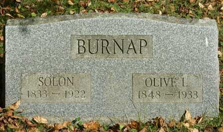 BURNAP, OLIVE L. - Lewis County, New York | OLIVE L. BURNAP - New York Gravestone Photos
