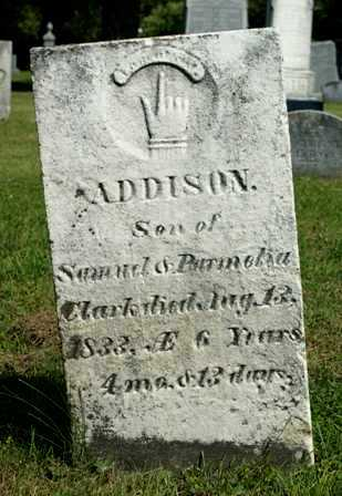 CLARK, ADDISON - Lewis County, New York | ADDISON CLARK - New York Gravestone Photos