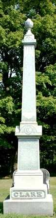 CLARK, FAMILY MONUMENT - Lewis County, New York   FAMILY MONUMENT CLARK - New York Gravestone Photos