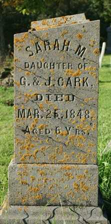 CLARK, SARAH M. - Lewis County, New York | SARAH M. CLARK - New York Gravestone Photos