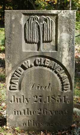 CLEAVELAND, DAVID W. - Lewis County, New York | DAVID W. CLEAVELAND - New York Gravestone Photos