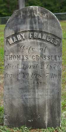 CROSSLEY, MARY FRANCES - Lewis County, New York   MARY FRANCES CROSSLEY - New York Gravestone Photos