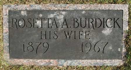 BURDICK, ROSETTA A. - Lewis County, New York | ROSETTA A. BURDICK - New York Gravestone Photos