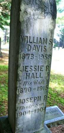 HALL DAVIS, JESSIE R. - Lewis County, New York | JESSIE R. HALL DAVIS - New York Gravestone Photos