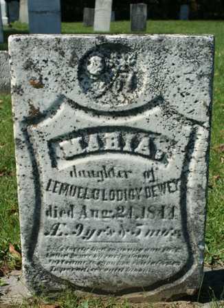 DEWEY, MARIA - Lewis County, New York | MARIA DEWEY - New York Gravestone Photos
