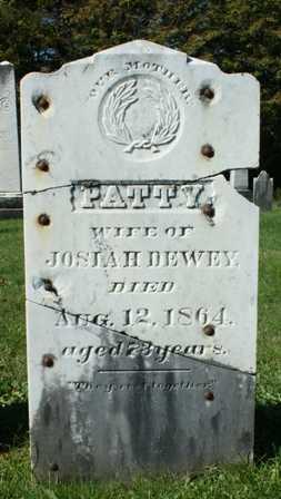 DEWEY, MARTHA (POLLY) - Lewis County, New York | MARTHA (POLLY) DEWEY - New York Gravestone Photos