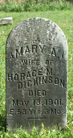 DICKINSON, MARY A. - Lewis County, New York | MARY A. DICKINSON - New York Gravestone Photos