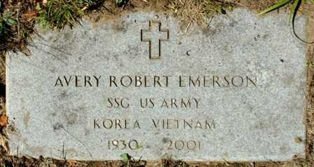 EMERSON (KOR), AVERY ROBERT - Lewis County, New York | AVERY ROBERT EMERSON (KOR) - New York Gravestone Photos