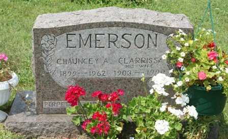 EMERSON, CHAUNCEY A. - Lewis County, New York | CHAUNCEY A. EMERSON - New York Gravestone Photos