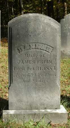FRUIN, HANNAH - Lewis County, New York | HANNAH FRUIN - New York Gravestone Photos