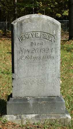 FRUIN, HENRY E. - Lewis County, New York | HENRY E. FRUIN - New York Gravestone Photos