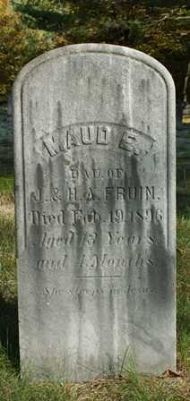 FRUIN, MAUD E. - Lewis County, New York | MAUD E. FRUIN - New York Gravestone Photos