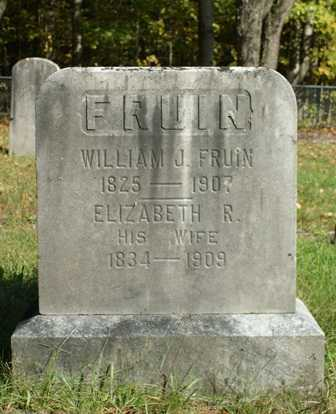FRUIN, ELIZABETH R. - Lewis County, New York | ELIZABETH R. FRUIN - New York Gravestone Photos