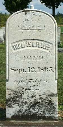 FULLER, THOMAS W. - Lewis County, New York | THOMAS W. FULLER - New York Gravestone Photos