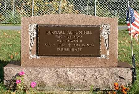HILL, BERNARD ALTON - Lewis County, New York | BERNARD ALTON HILL - New York Gravestone Photos