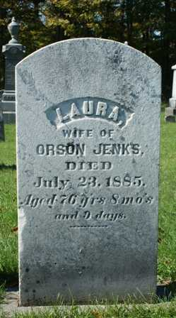 JENKS, LAURA - Lewis County, New York | LAURA JENKS - New York Gravestone Photos