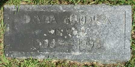 BURDICK, D. ADA - Lewis County, New York   D. ADA BURDICK - New York Gravestone Photos