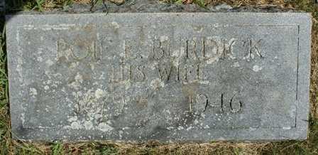 BURDICK, ROIE E. - Lewis County, New York | ROIE E. BURDICK - New York Gravestone Photos