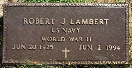 LAMBERT, ROBERT J. - Lewis County, New York | ROBERT J. LAMBERT - New York Gravestone Photos
